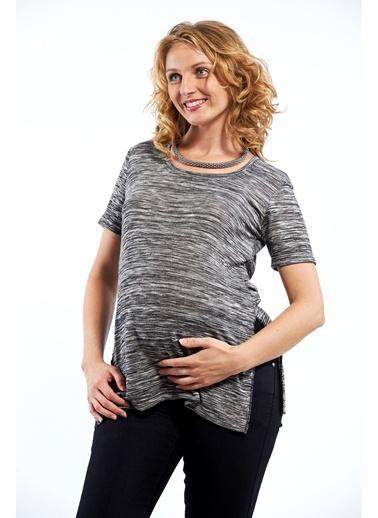 Bisiklet Yaka Tişört-Motherway Maternity